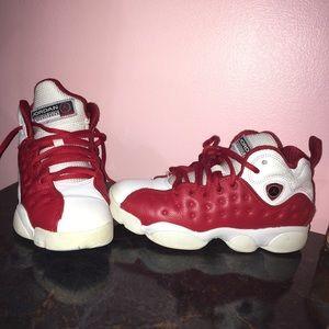Red & white Jordan's
